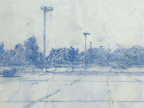 Suburbia Series, Parking Lot (Detail)